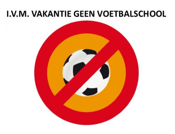 Geen voetbalschool in de herfstvakantie