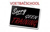 Geen voetbalschool woensdag 13 december