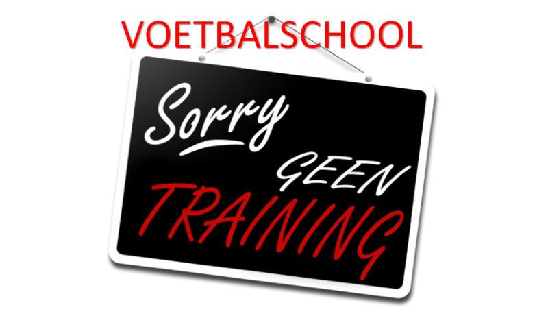 Geen voetbalschool maandag 29 mei