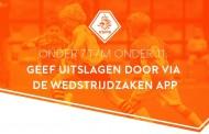Uitslagen O7 t/m O11 straks via wedstrijdzaken app