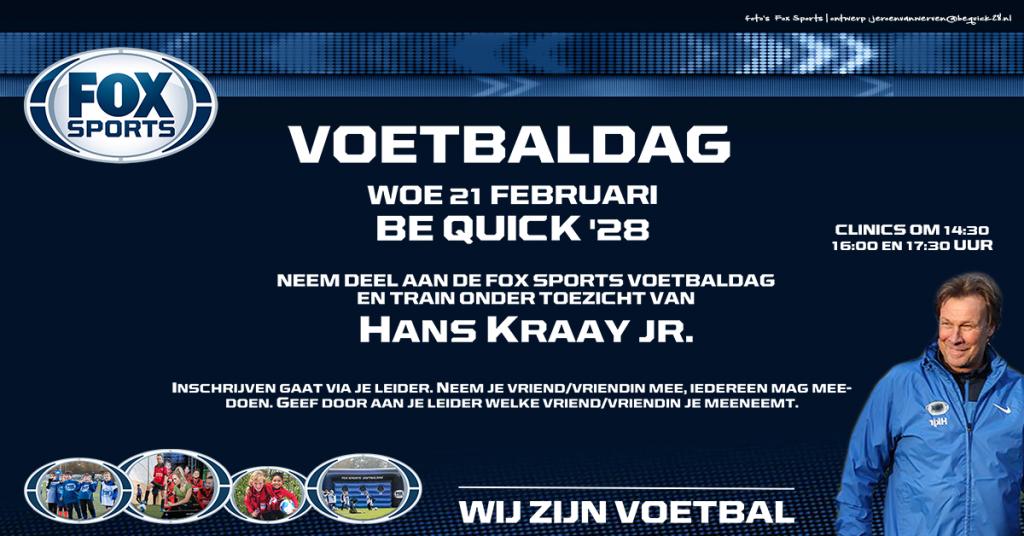 Fox Sport Clinic op woensdag 21 februari - UPDATE