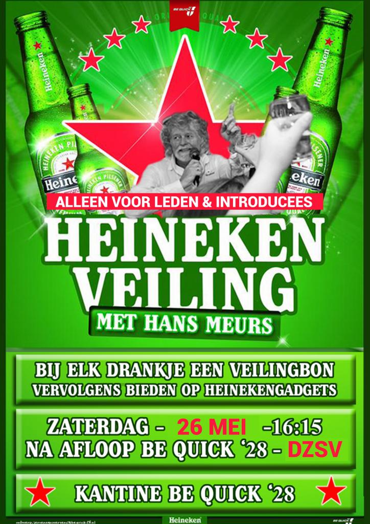 Heineken veiling op 26 mei a.s.