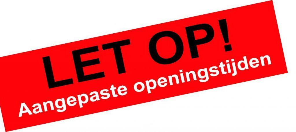Openingstijden kantine week 21-25 januari