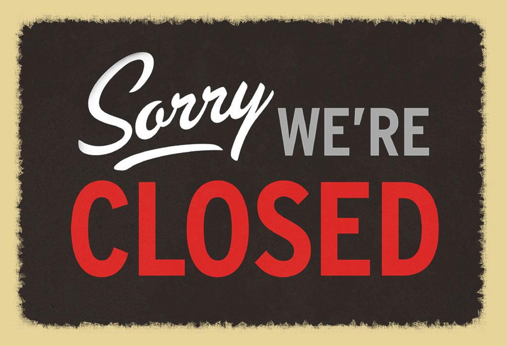 Donderdag/zaterdag/donderdag 27/29 juli & 3 augustus kantine gesloten