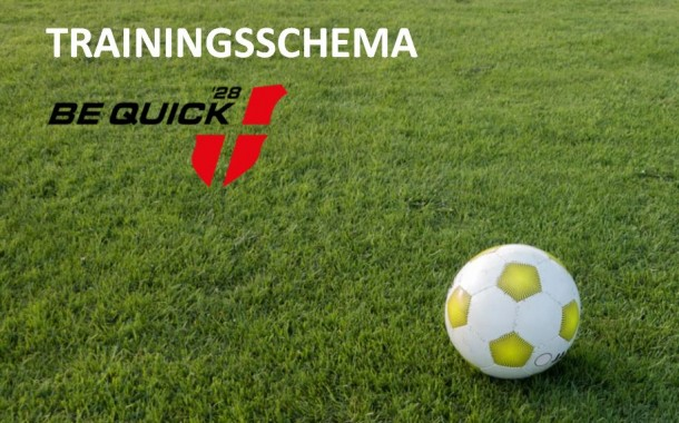 Concept trainingsschema is klaar