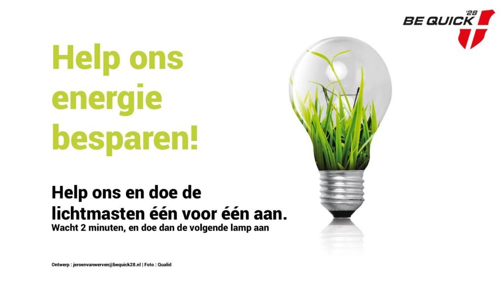 Help ons energie besparen