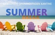 Gewijzigde openingstijden kantine in de zomervakantie