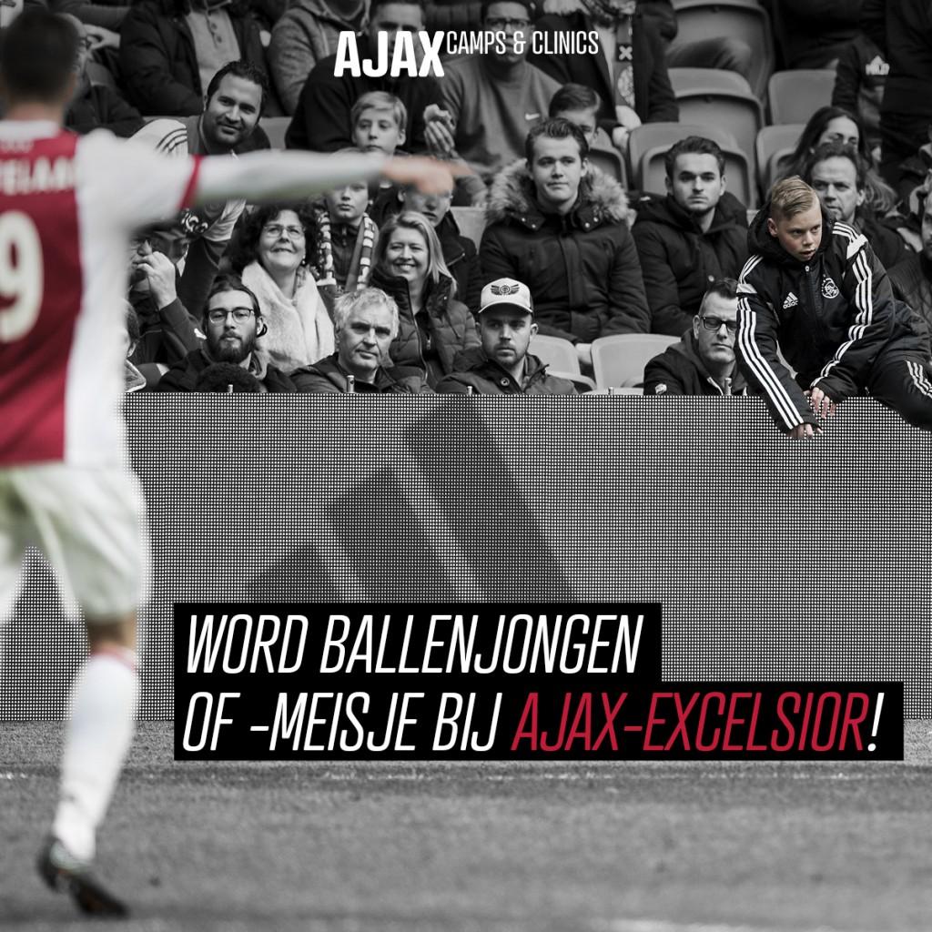 Ballenjongen zijn bij Ajax-Excelsior