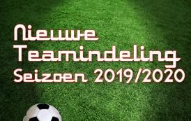 Indeling 2019-2020 - UPDATE 2