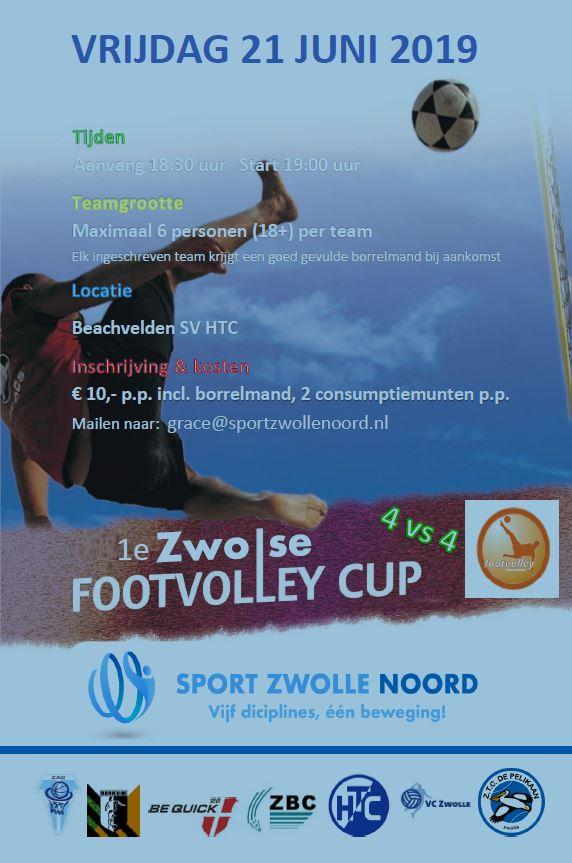 Sport Zwolle Noord organiseert de 1e Zwolse FootVolley Cup
