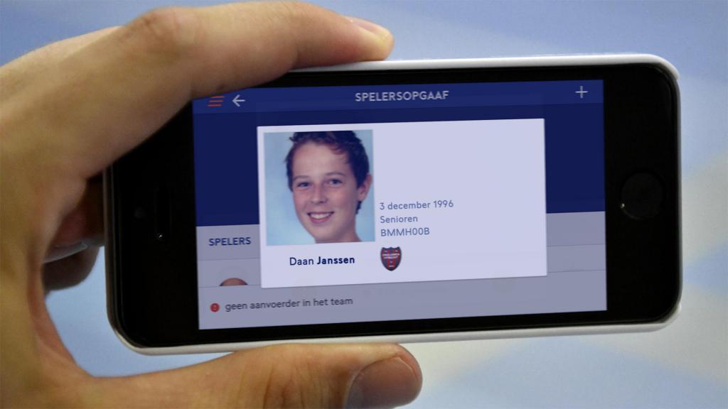 Pasfoto updaten in de voetbal.nl app