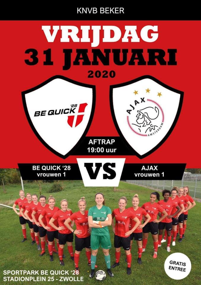 Vrouwen Be Quick spelen tegen Ajax