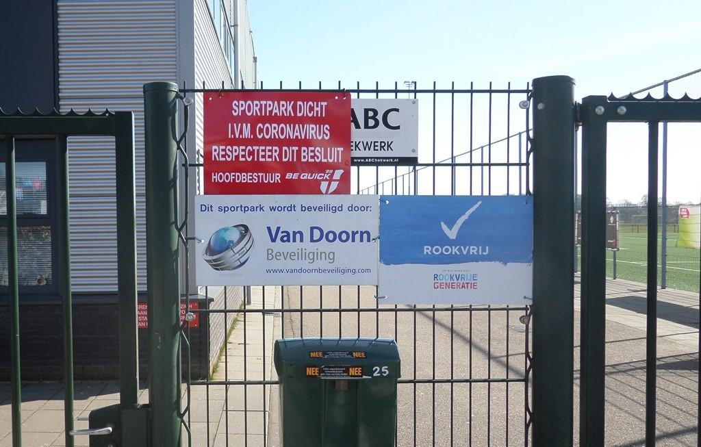 Ons sportpark blijft voorlopig gesloten.