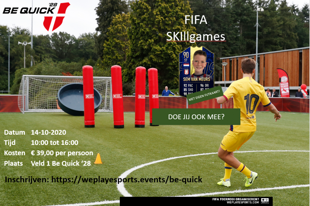 FIFA Skillgamedag bij Be Quick '28