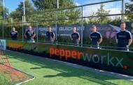 Nieuwe presentatiepolo's Heren 2 sponsor Pepperworkx Personeelsdiensten